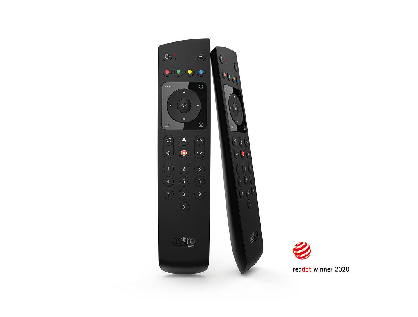 ruwido's astro ultra remote control wins red dot design award 2020