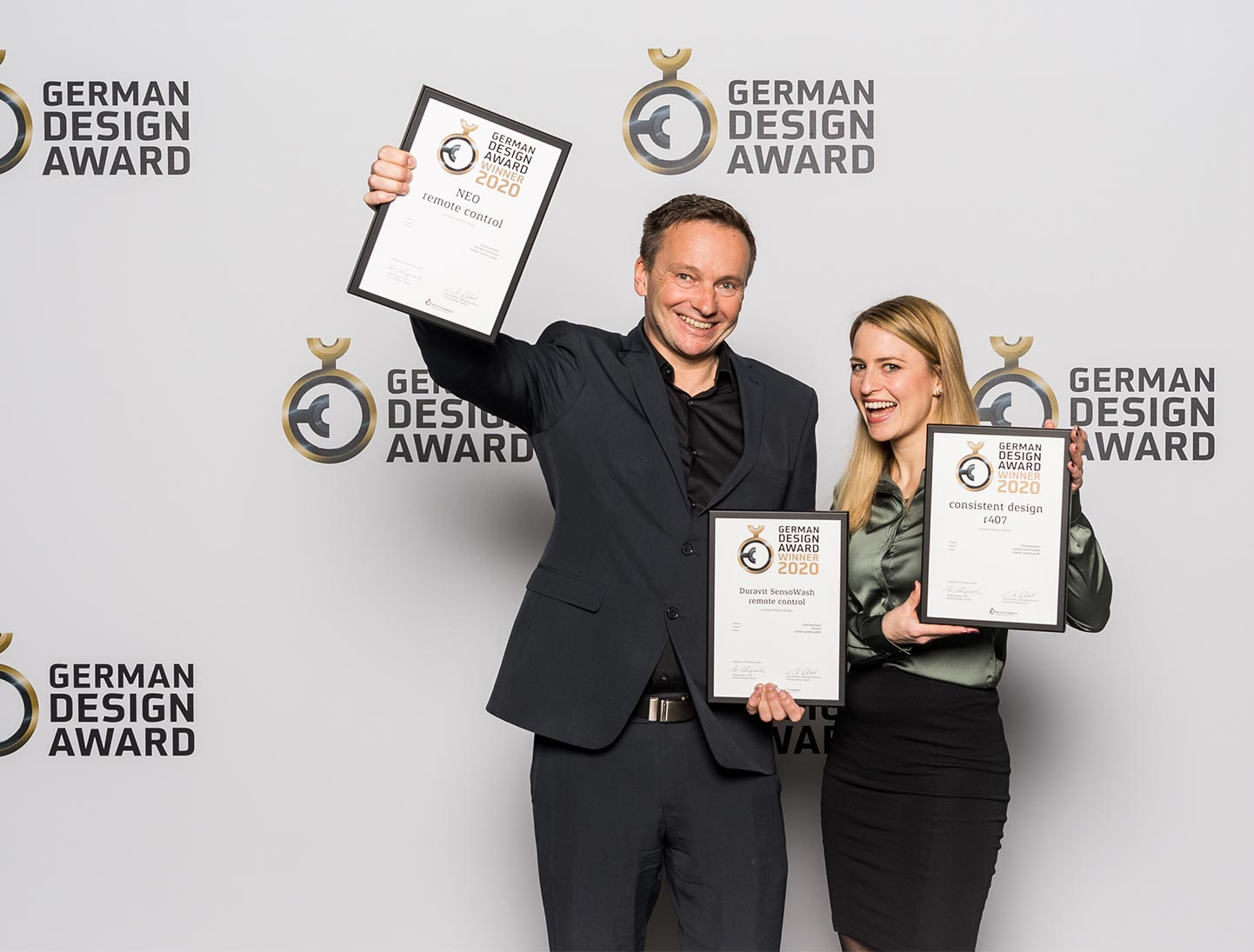 outstanding success for ruwido's consistent design r407 at german design awards 2020